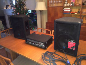 Yorkville 5 Channel Dual-Powered PA/Mixer with Effects