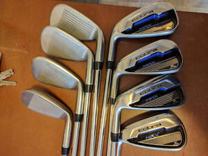 Beautiful left handed cobra max irons