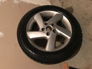 2 month old winter tires (silver rims included)