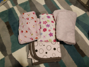 Change pad clovers and burp cloths