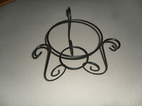 Large wrought iron plant stand