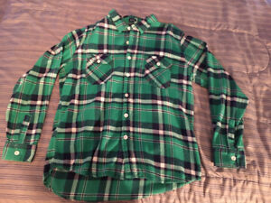 Two Plaid Button-Up Shirts (Size XL)