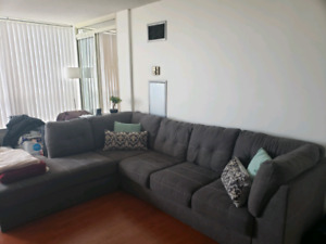 Grey Sectional Couch for sale