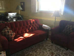 Sofa - matching chair - cushions