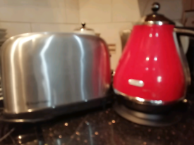 Kitchen items, kettle toaster, microwave £20