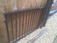 Plastic coated Black Gate for Garden Drive or Entry