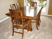 Tuscan Oak Mission Formal Dining Table