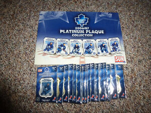 06/07 Toronto Maple Leafs Platinum Plaque hockey Collection Set