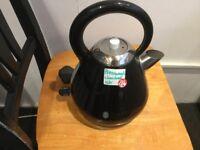 Black large cordless kettle