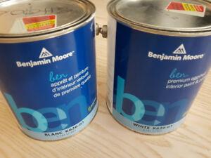 Benjamin Moore White Paint 2 gallons