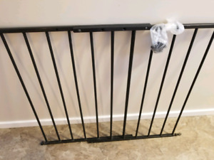 Metal babygate for stairs adjustable $50 OBO