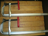 TWO 20 INCH BESSEY CLAMPS