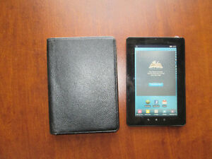 Kobo Vox Black Ereader (K080) with Leather Case