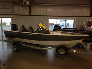 2016 Crestliner 1650 Discovery SC with 60 Mercury Fall Clear-out
