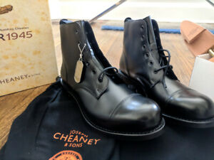 5e86cc224f Cheaney Hurricane R Military Style Boot Black 10UK 11 USA 44EU