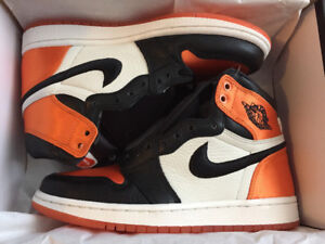 DS JORDAN 1 SATIN SHATTERED BACKBOARD SIZE 6.5 WOMENS - $500