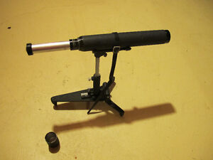 Telescope and stand.