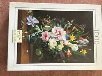 Large 1500 floral scene jigsaw