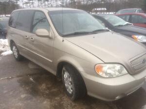 2003 Kia Minivan, Van cert e-test 2900 pls tax705-333-3355