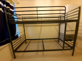 Silver Bunk Bed Frame