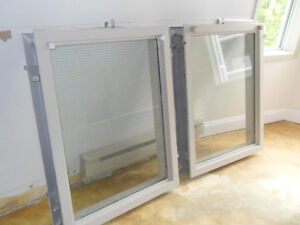 2 Security Windows - Wire Reinforced.