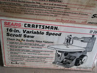 "Craftsman 16"" variable scroll saw"