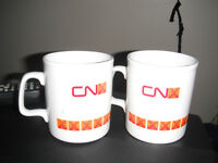 CN Railway vintage coffee mugs.Made in England.