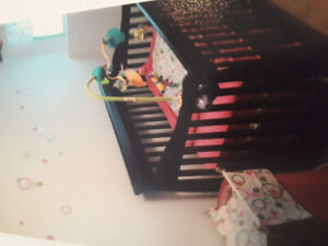 Beautiful crib with matching changetable/dresser