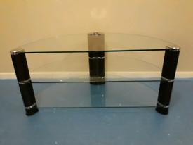 Habitat TV Stand | Walnut & Glass | RRP £200