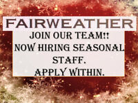 Join our team @ Fairweather Sarnia for the holiday season!
