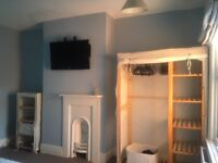 Canvas / wood wardrobe & chest of draws / shelving