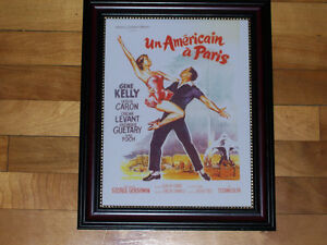 AN AMERICAN IN PARIS - Classic Film Poster - Framed Print!