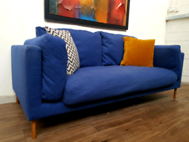 Swoon Editions Munich 2 seater sofa in navy blue wool RRP £1400