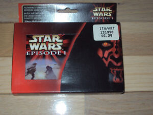 STAR WARS EPISODE 1, UNOPENED PLAYING CARDS IN COLLECTOR TIN
