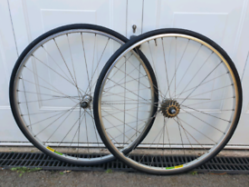Vintage Mavic MA2 Road Racing Bike Wheels Shimano 105 Hubs