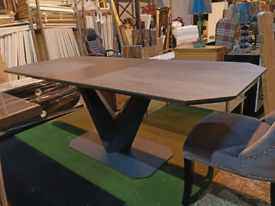 Ex Display Large Dining Table / Bellagio Ceramic Ext Dining Table Grey - 180-220cm