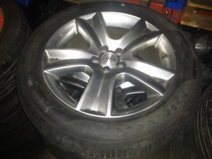 Jdm subaru rims wheels tires 17x7 +48 5x100