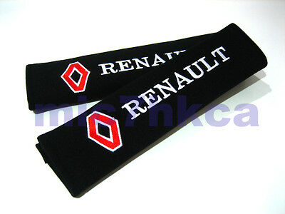 2x soft car seat belt harness cushion shoulder cover pads for RENAULT (UK stock)
