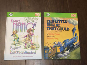2 LEAPFROG TAG BOOKS - Fancy Nancy & Little Engine that Could