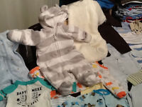 Baby boy clothes 0-3, swing, baby carrier