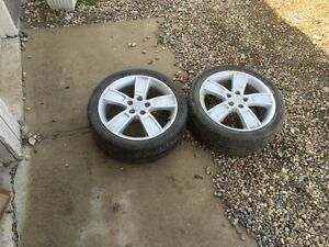 Kia rims with used tires