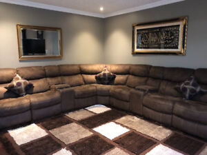 Couches and carpet for sale