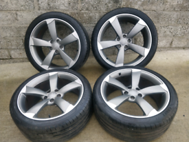 """Genuine 19"""" TTRS Black Edition x4 Alloy Wheel and Tyres"""