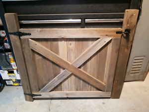 Home made rustic baby gate