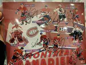 Autographed by 10 Montreal Canadiens Players 8x10