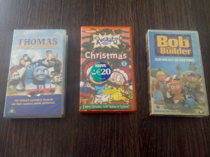 3 VHS Tapes for Children.