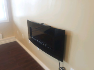Wall mount fire place