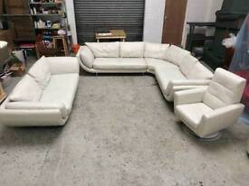 Furniture Village Jemima Corner Sofa new furniture village jemima grey leather corner sofa & armchair