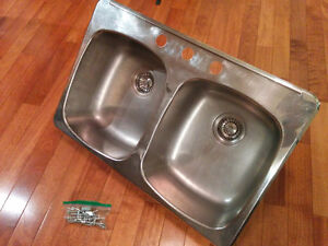Used Stainless Steel Drop-in Kitchen Sink