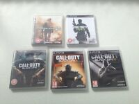 PS3 CALL of DUTY Black Ops 3 and 1 and 2 and MW2 and MW3 BUNDLE